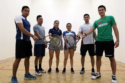 Raquetbolistas en el Mundial Juvenil