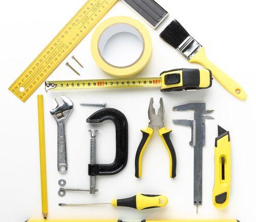 herramientas para el hogar en forma de casa