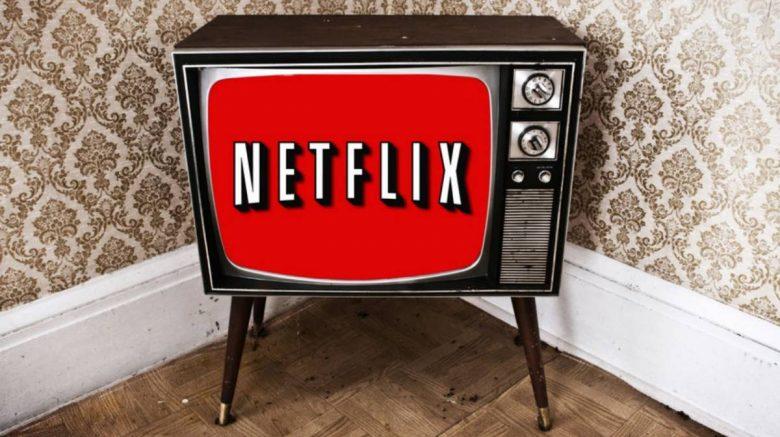 televisión antigua con netflix