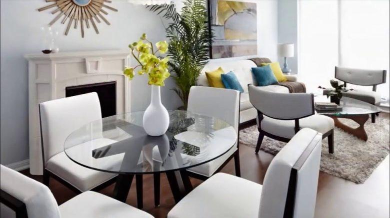 sala comedor de color neutro